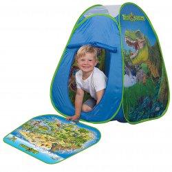 NAMIOT Domek dla dzieci Dywan + 2 Figurki Dinozaury John Schleich