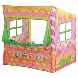 NAMIOT Stragan Sklep Cukiernia Namiot Domek dla dzieci + 4 ciastka