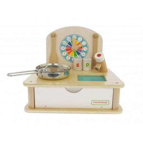 Zabawki Na Upalne Dni Drewniana Mini Kuchnia Dla Dzieci Masterkidz Moja Pierwsza Kuchenka Akcesoria