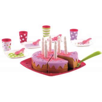 Ecoiffier Tort urodzinowy z akcesoriami PARTY kids