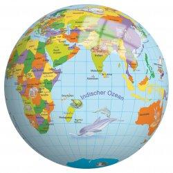 Piłka Winylowa dla dzieci 23 cm perłowa Globus