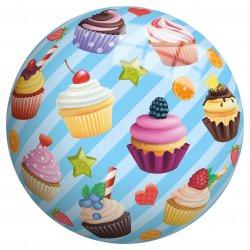 Piłka Winylowa dla dzieci 23 cm perłowa Babeczki