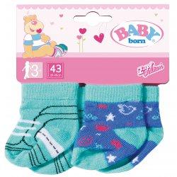 Baby Born Skarpetki dla Lalki 43 cm 2 Pary Zielono Niebieskie