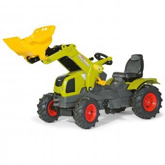 CLAAS traktor na pedały z łyżką i pompowanymi kołami Rolly Toys rollyFarmtrac