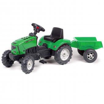 FALK Lander Zielony Traktor na pedały z przyczepką i klaksonem