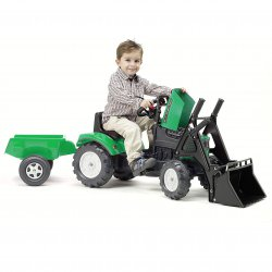 Traktor na pedały z Przyczepą i Łyżką FALK 2-5 Lat