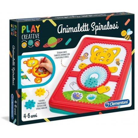 Spiralne Zwierzątka Szablony do Rysownia Clementoni Play Creative