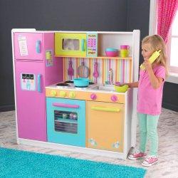 Duża Kuchnia Dla Dzieci Tęczowa Drewniana Masterkidz