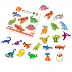 Magnesy Na Lodówkę Drewniane Dinozaury Viga Toys 20 szt
