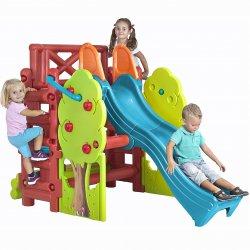 FEBER Plac zabaw ze zjeżdżalnią i stolikiem Wood House