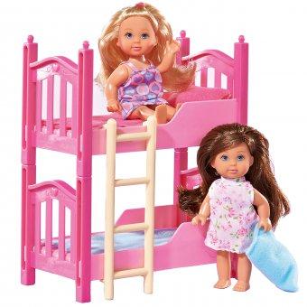 Lalka Evi Zestaw 2 Lalki Piętrowe łóżko Akcesoria Simba
