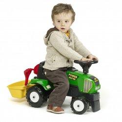 FALK Jeździk Traktor Chodzik Pchacz Klakson Akcesoria Kosz