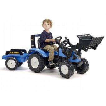 Landini Traktor na pedały z przyczepą i łyżką FALK 3-7 Lat do 50 kg