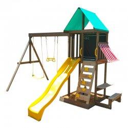 Drewniany plac zabaw dla dzieci Zjeżdżalnia Huśtawki piaskownica KidKraft Newport