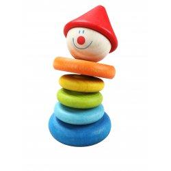 Kolorowa Grzechotka Drewniana dla dzieci Klaun Classic World