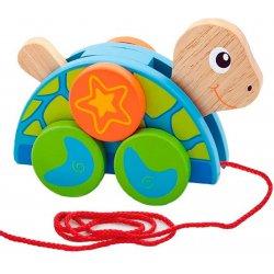 Viga Zestaw do ciągnięcia drewniany żółw