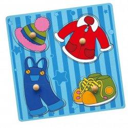 Drewniane Puzzle Ubrania Układanka Niespodzianka Viga Toys