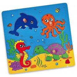Drewniane Puzzle Morze Układanka Niespodzianka Viga Toys