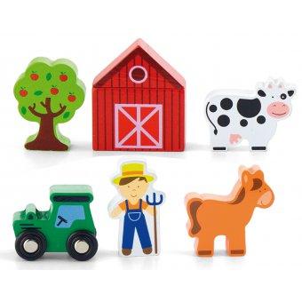 Viga Drewniana Farma 6 Figurek