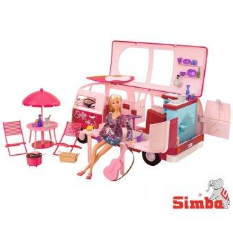 Simba Steffi z wakacyjnym Kamperem lalka z akcesoriami