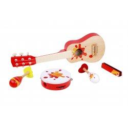 Zestaw Muzyczna Gitara Tamburyn + Akcesoria Classic World