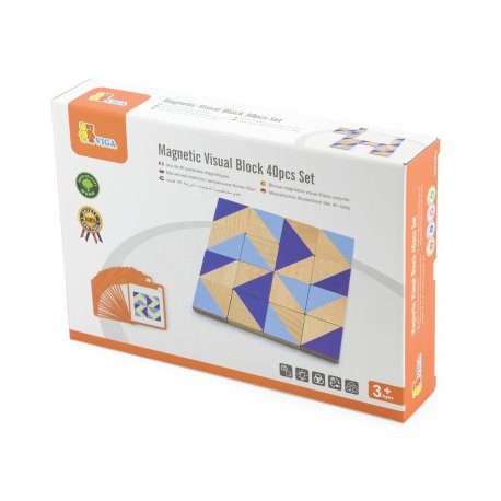 Drewniana Mozaika Klocki Drewniane Viga Toys Układanka Logiczna 40 elementów