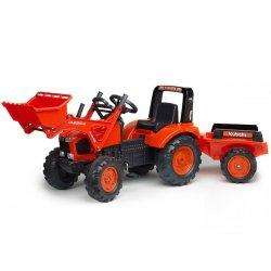 FALK Traktor KUBOTA z łyżką i przyczepą