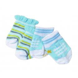 Baby Born Skarpetki dla lalki 43 cm Szaro różowe 2 pary
