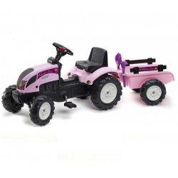 FALK Traktor Princess z przyczepą i zestawem do piasku 2-5 lat