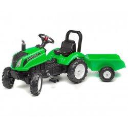 Traktor na pedały Land Master z przyczepą Nowość 2017