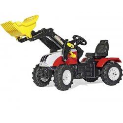 Traktor na Pedały Pompowane Koła + Łyżka - Steyer Rolly Toys rollyFarmTrac