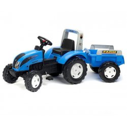 FALK Traktor Landini Niebieski z Przyczepą na pedały