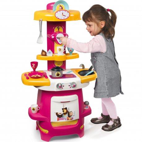 Kuchnia Dla Dzieci Masza I Niedźwiedź 22 Akc Smoby Brykaczepl Sklep Z Zabawkami