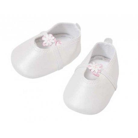 Zapf Creation śliczne Perłowe - białe baletki z kwiatuszkiem Dla Lalki Baby Annabell 46 cm