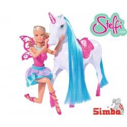 SIMBA Magiczny Jednorożec Koń Konik Lalka Steffi Wróżka