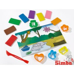 SIMBA Ciastolina zestaw foremek Art&Fun masa plastyczna
