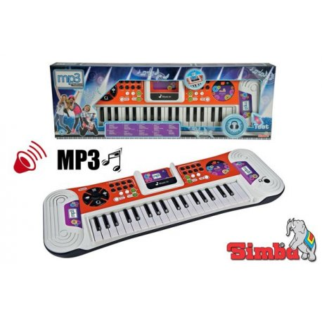 Simba Pianinko Keyboard My Music World Funkcja Mp3 Dźwięk