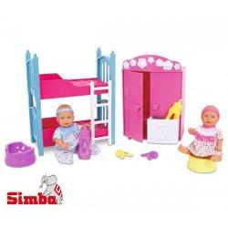 SIMBA Pokój Dziecięcy 2 Lalki BABY BORN Nocnik