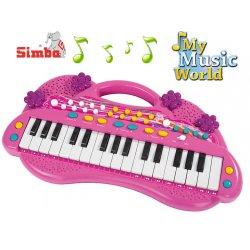 Simba Keyboard dla Dziewczynki różowy