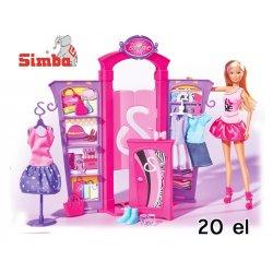 SIMBA lalka Steffi Modny Butik + 20 EL.