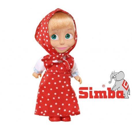 SIMBA Lalka Masza Kolorowa Czerwona
