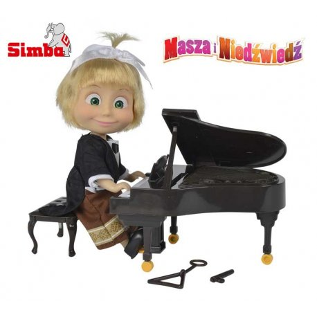 SIMBA Laleczka Masza Pianistka z instrumentami