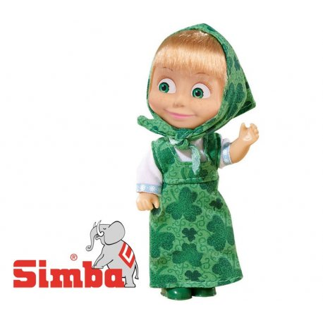 SIMBA Lalka Masza Kolorowa Zielona