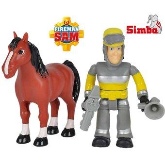 Simba Strażak Sam Figurka Sam i Koń Akcesoria