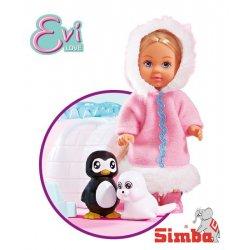 Lalka Evi Love Zimowa Simba + foka i pingwin