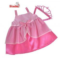 Simba New Born Baby Balowa Ciemno Różowa Sukienka Dla Lalki 38-43 cm
