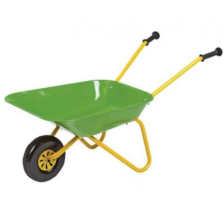 Taczka dla dziecka zielona metalowa Rolly Toys