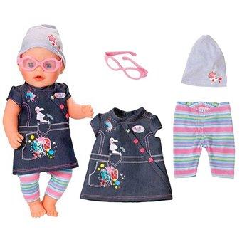 Baby Born Jeansowe Ubranko Sukienka de Luxe