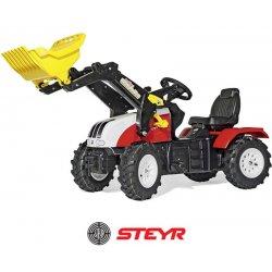 Rolly Toys Traktor na pedały John Steyr na pompowanych kołach + Łyżka