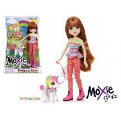 Lalka Moxie Grilz Kellan ze zwierzakiem + kolorowe jajka Poopsy Pets